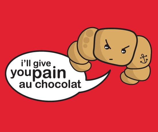 Funny croissant t-shirt