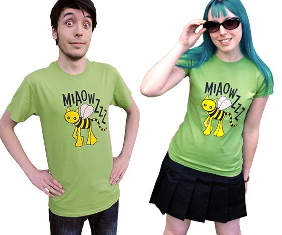 Mens & ladies bee cat t-shirt