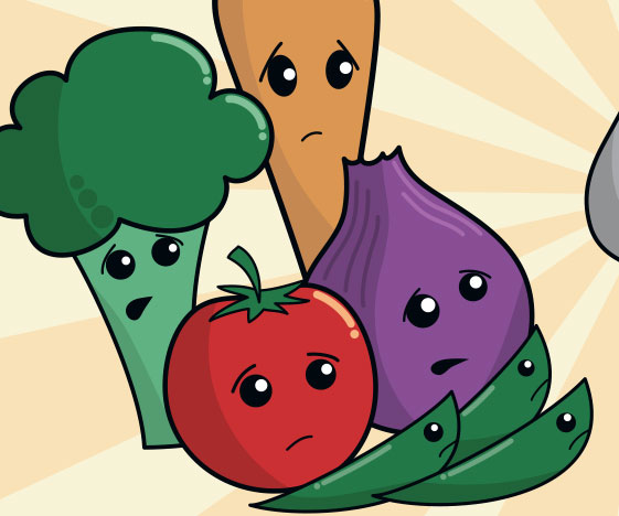Funny vegetables artwork