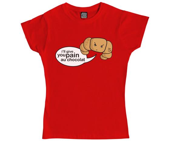 Croissant ladies t-shirt