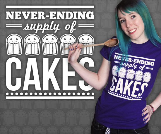 Never-ending Supply of Cakes T-Shirt by Cakes with Faces