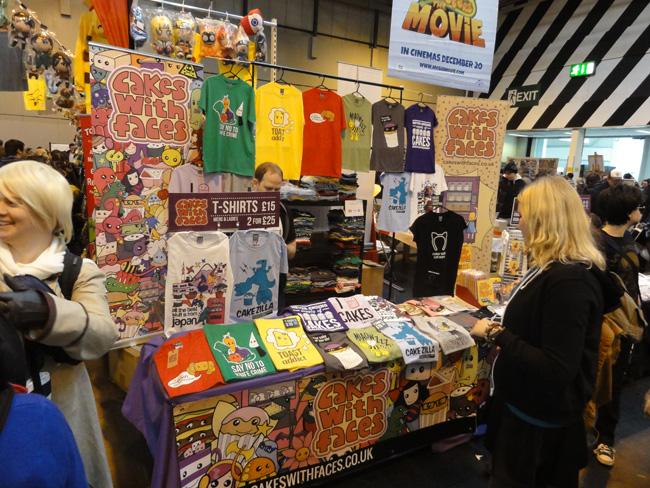 Colourful t-shirts at MCM Birmingham Comic Con