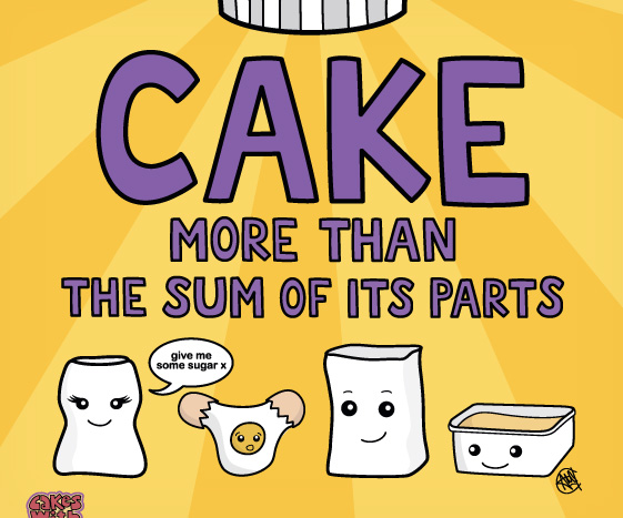 Colourful Cake Graphic Art Poster
