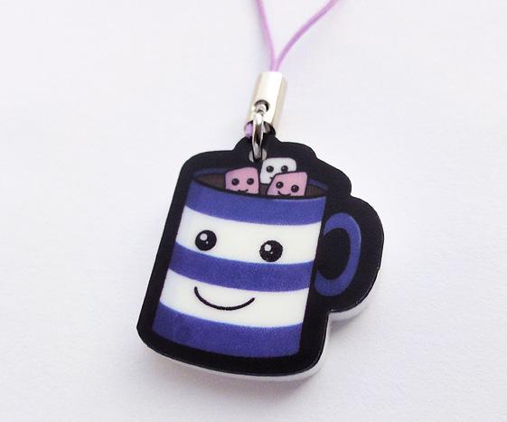 Kawaii Hot Chocolate Phone Charm