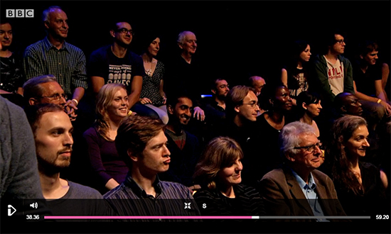 T-shirt on BBC 2 Don't Panic: The Truth About World Population