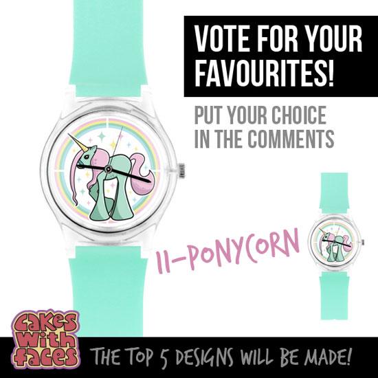 Ponycorn kawaii unicorn watch