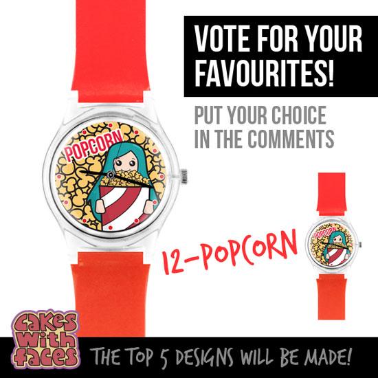 Colourful popcorn watch