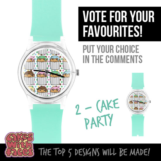 Cute cake party watch