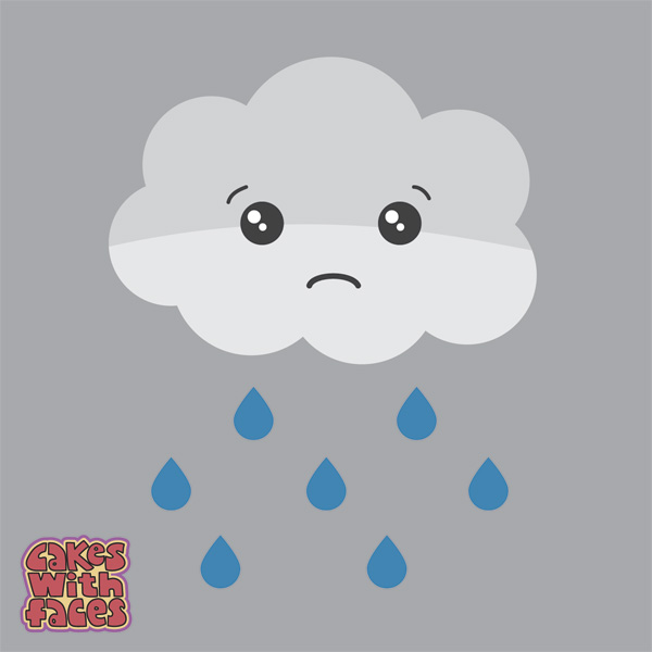 Cute but sad cloud