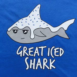 Great iced shark t-shirt print