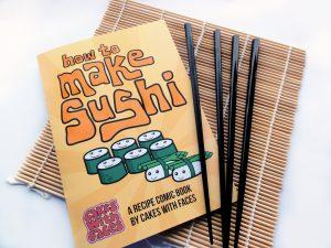 Sushi comic recipe book