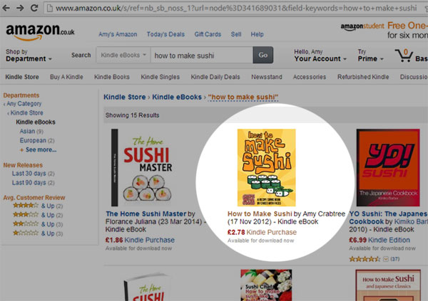 How to Make Sushi eBook for Amazon Kindle