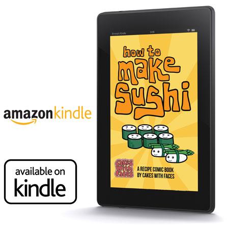 Sushi recipe book on Kindle