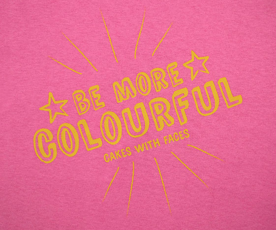 Bright and colourful pink t-shirt