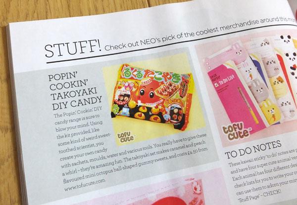 NEO magazine Stuff page