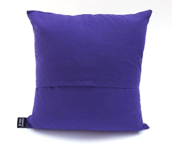 Purple cake cushion back