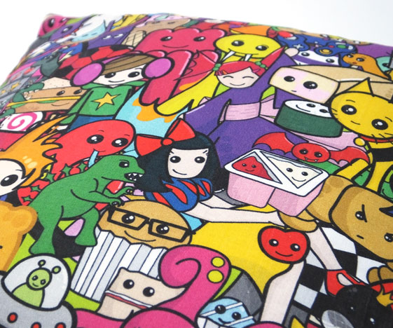 Colourful cushion pattern