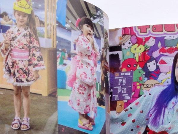 Cute girl in kimono