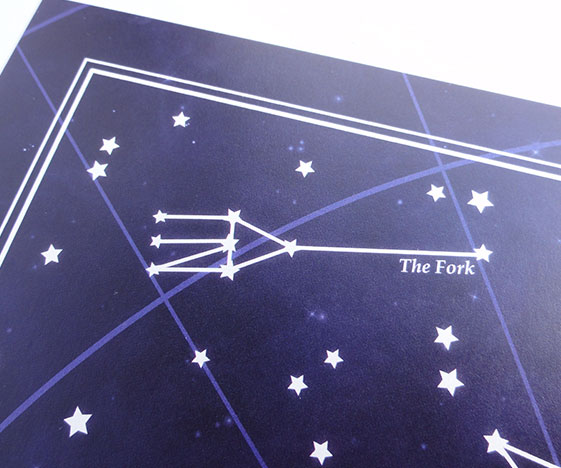 Starry Night Constellations Art Print