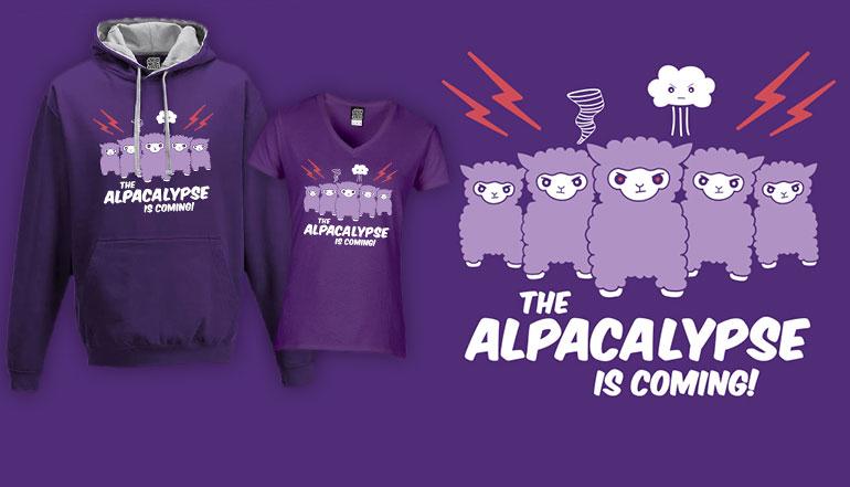 Alpacalypse alpaca t-shirts and hoodies