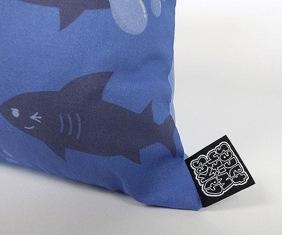 Shark pillow tag