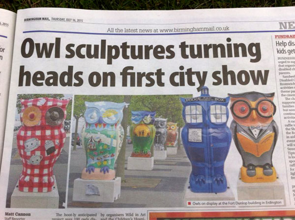 The Big Hoot owls in the Birmingham Mail