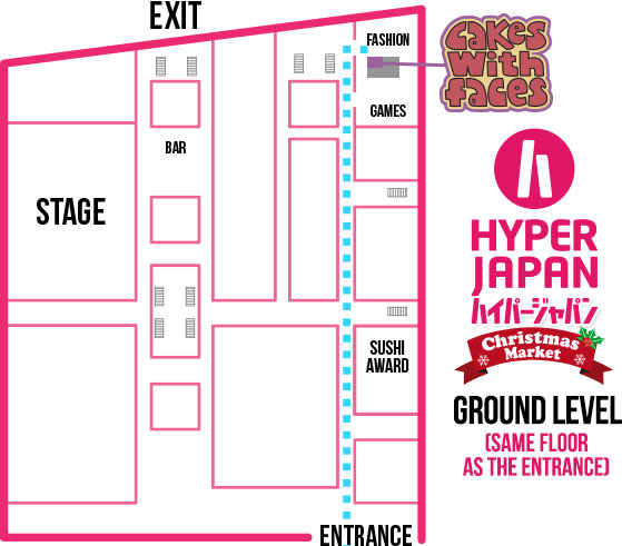Hyper Japan Christmas Market November 2015 - Floor Plan