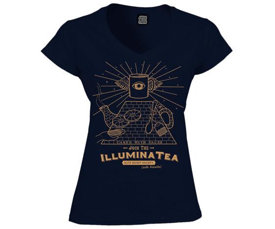 Illuminatea ladies illuminati t-shirt