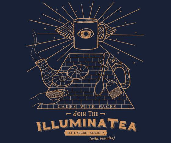 """""""Illuminatea"""" Illuminati / Tea T-Shirt"""