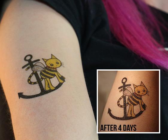 Cute cat fake tattoo
