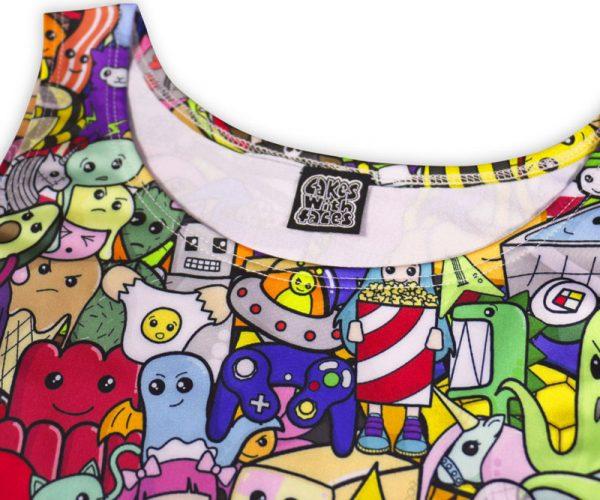 Cute Explosion Skater Dress Label
