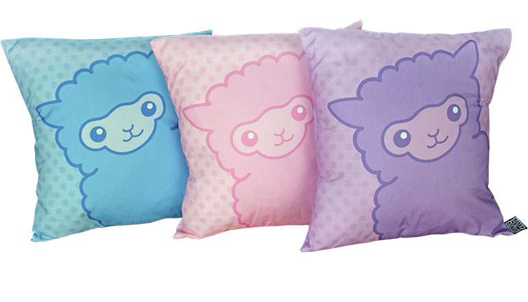 Cute alpaca cushions