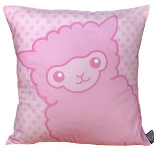 Pink Alpaca Cushion