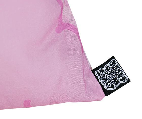 Pink alpaca pillow