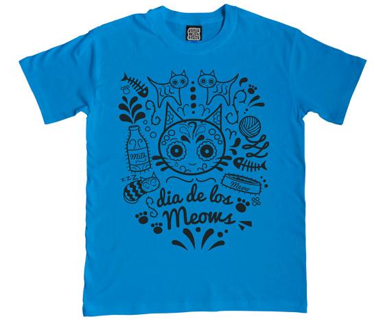 Dia de los Muertos cat t-shirt