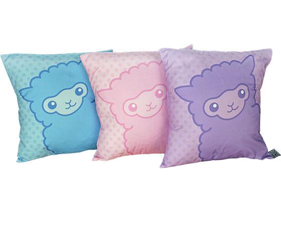 Pastel alpaca pillows