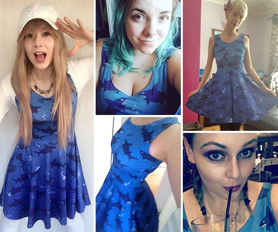 Shark dress customer photos