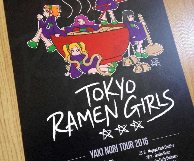 Tokyo Ramen Girls Art Print