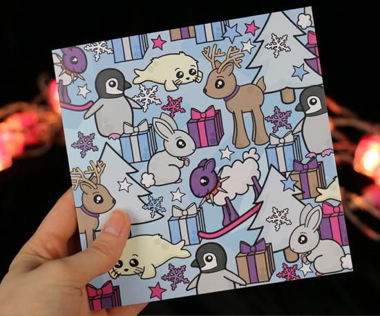 Cute, snowy Christmas Card
