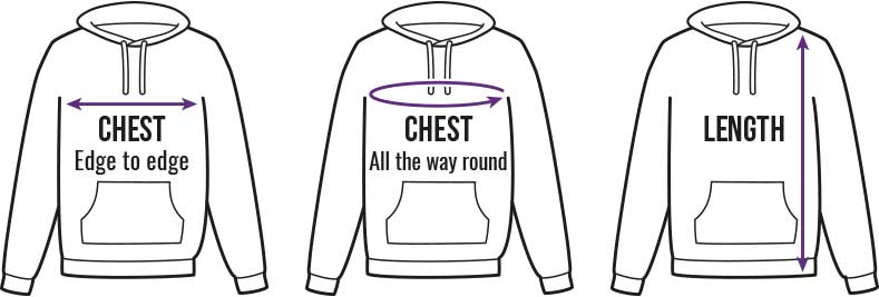 Hoodies Size Guide
