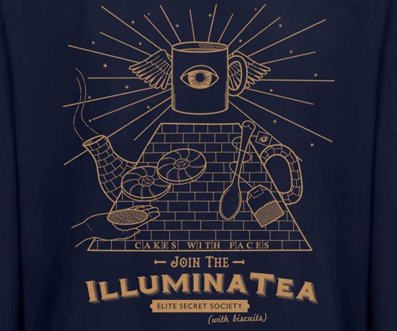 Illuminati tea sweater