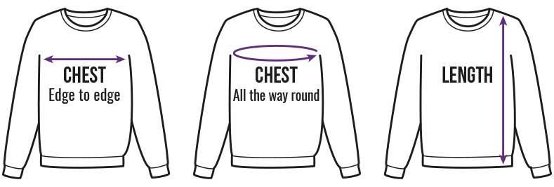 Sweatshirts Size Guide