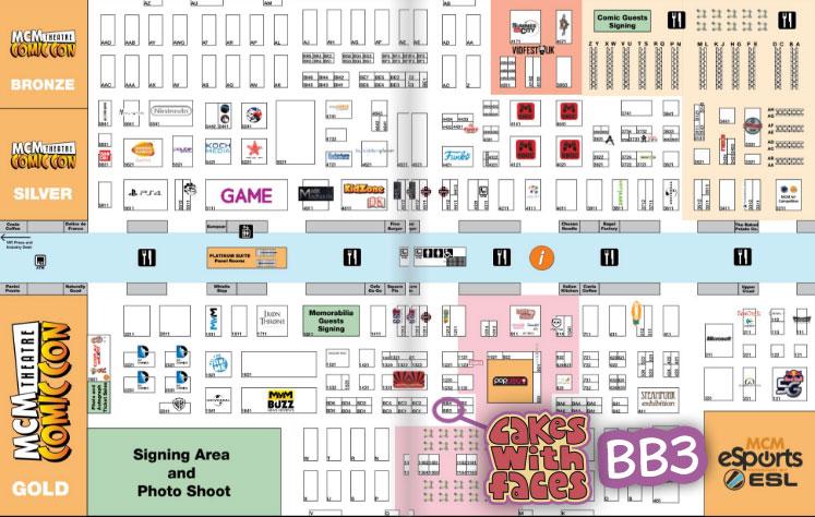 MCM London Comic Con May 2017 Floor Plan