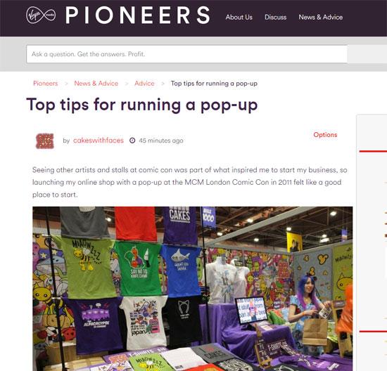 Tips for running a pop-up shop - Virgin Media pIoneers