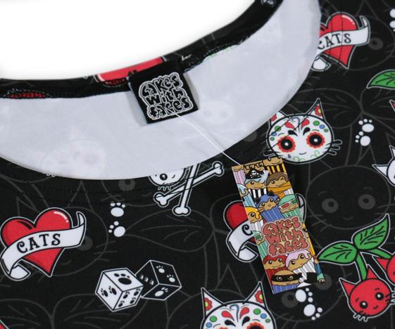 Cattoos dress close-up