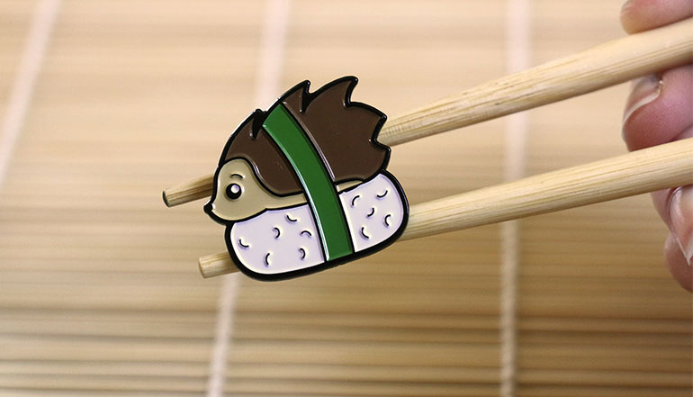 Hedgehog Sushi Enamel Pin