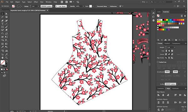 Japanese Cherry Blossom Pattern