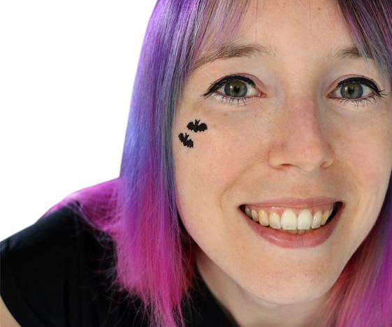 Bat face tattoo