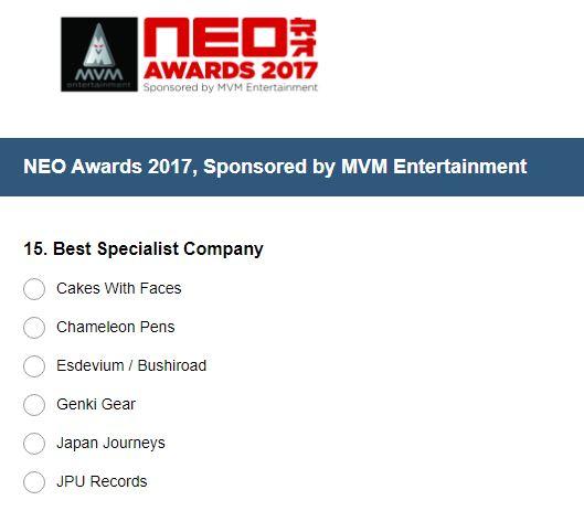 NEO Awards 2017 - Best Specialist Company