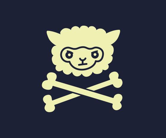 Llama Skull & Crossbones